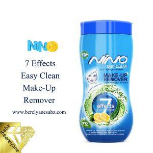 دستمال پاککننده آرایش 7 کاره نینو Nino 7 Effects Easy Clean